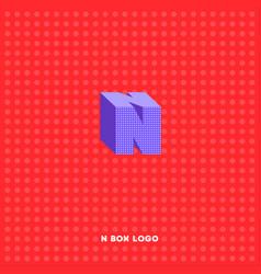 n box building emblem vector image