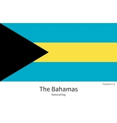 National flag of bahamas with correct proportions vector