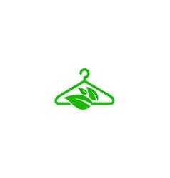 Nature laundry logo icon design vector