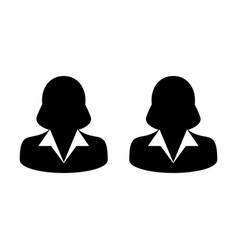 network icon female group of persons symbol vector image