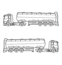 outline drawing oil fuel gasoline container vector image