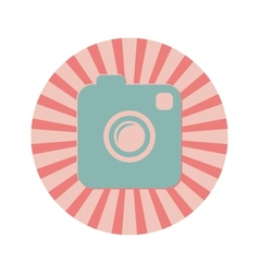 Photo or Video Camera Vintage Style Icon vector