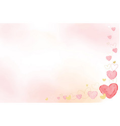 pink and gold watercolor heart on pink watercolor vector image