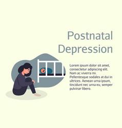 postnatal depression poster brochure flyer design vector image