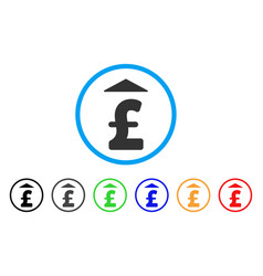 pound up rounded icon vector image