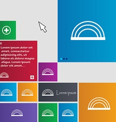 Rainbow icon sign buttons Modern interface website vector