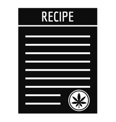 recipe marijuana paper icon simple style vector image