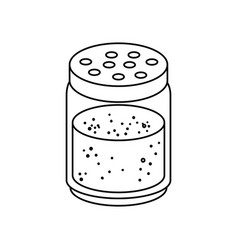 salt bottle icon vector image