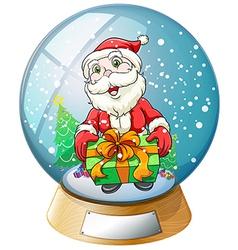 Santa claus crystal ball vector