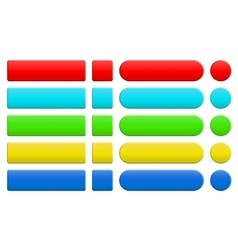 set blank colorful internet buttons vector image