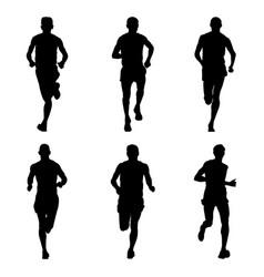 Set running marathon vector
