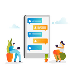social media people chatting in social networks vector image