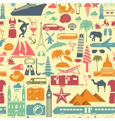 Travel background Vacations Beach resort seamless vector image