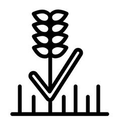 wheat line icon grain vector image