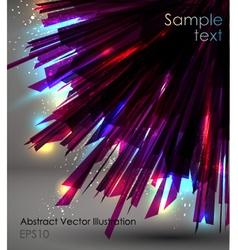 abstract dark sunburst vector image vector image