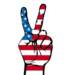 America victory finger t-shirt graphics vector image