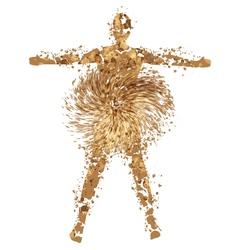 desert man vector image