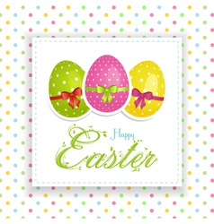 Easter egg panel vector image
