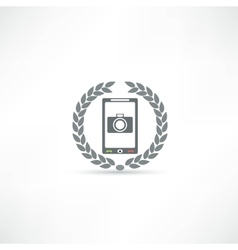 phone icon vector image vector image