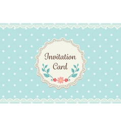 cute pastel blue polka dot with lace elegant vector image vector image