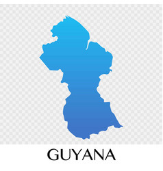 guyana map in south america continent design vector image