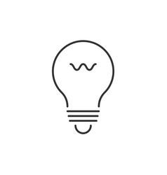 lightbulb outline icon vector image