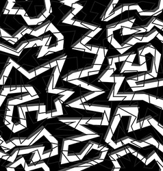 80s geometry seamless pattern in black and white vector image vector image