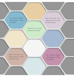 Colored honeycomb pattern background vector image vector image