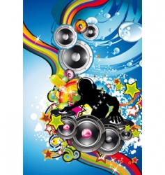 discotheque colorful background vector image vector image
