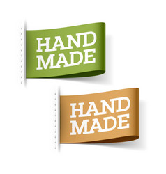 handmade labels vector image