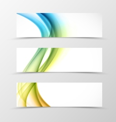Set of header banner swirl design vector image vector image