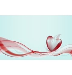 waves forming heart vector image vector image