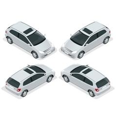 3-door Hatchback car isolated isometric vector image vector image