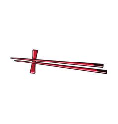 bamboo asian chinese japanese chopstick pair vector image vector image