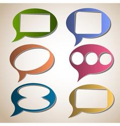 Creative speech bubbles vector image