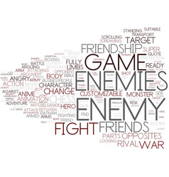 enemy word cloud concept vector image