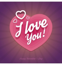 Happy Valentines Day card with heart shapes in vector image
