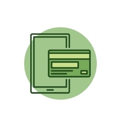 Mobile payment colorful icon vector