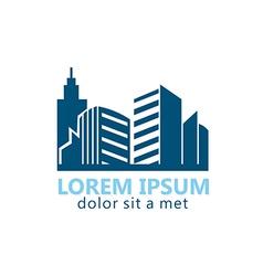 modern building city logo vector image vector image