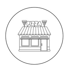 pizzeria icon in outline style isolated on white vector image