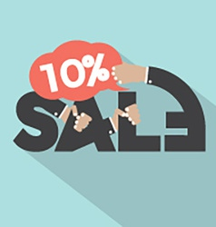 10 Percent Discount Typography Design vector image