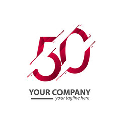 50 year anniversary your company template design vector