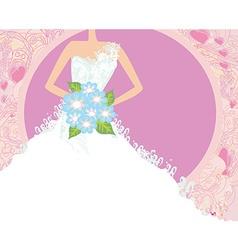 Abstract Beautiful bride card vector