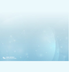 abstract bokeh blue background with technology vector image