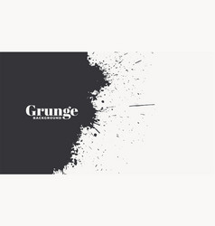 abstract ink splatter grunge texture background vector image