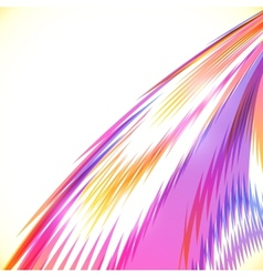 Abstract rainbow stripes shining background vector image