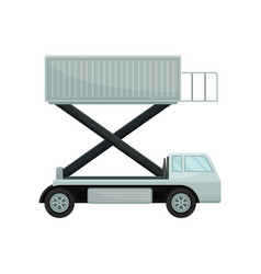 aircraft passenger lift or catering truck side vector image