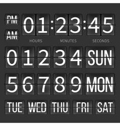 Airport timer counter digital clock flip vector image