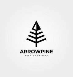 Arrow pines logo business company symbol designs vector