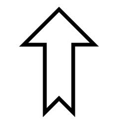 Arrow Up Contour Icon vector